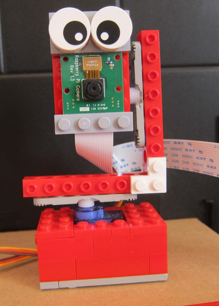 Raspberry Pi camera mounted on pan tilt